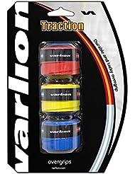 Varlion Traction - Overgrip de pádel, tricolor: rojo, amarillo y azul