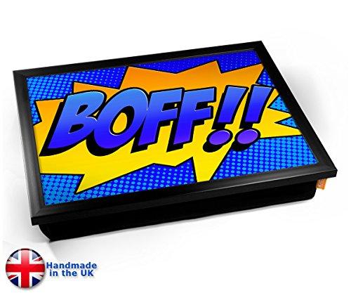 Comic BOFF Cushion TV Dinner Lap Tray Kissen Tablett Knietablett Kissentablett - Schwarzer Rahmen