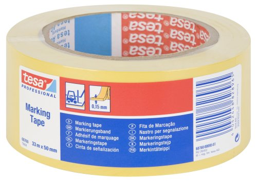 tesa-60760-floor-and-lane-marking-tape-50-mm-x-33-m-yellow