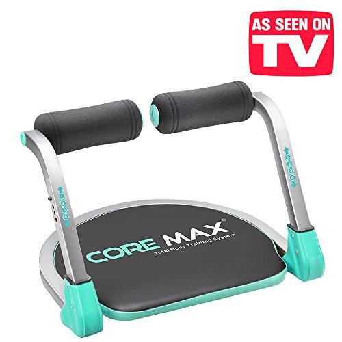 El original Core Max 8en 1– Sistema de entrenamiento corporal totalSu nuevo banco de abdominales para un entrenamiento integral.Banco compacto y ahorra-espacio para un entrenamiento total, para tonificar, fitness, cardio, muscular, ABS, AB, TB.