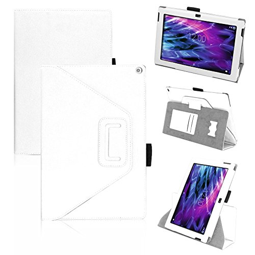 UC-Express Tasche Medion Lifetab S10366 S10365 S10346 Hülle Schutzhülle Cover Tablet Case, Farben:Weiß
