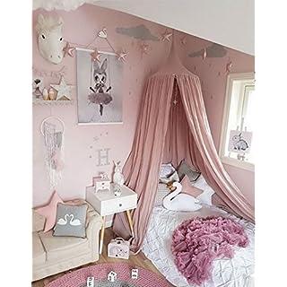 Restbuy Kinder Betthimmel Baldachin Aus Baumwolle Mückenschutz Moskitonetz  Insektenschutz Baby Indoor Play Lesen Zelt Dekoration Für