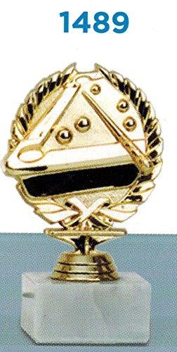 Trophäe Billard premiazioni-Color Gold-H CM 14,5-Frisch-Marmorsockel Gegenstand aus Kunststoff-Made in Italy-Geschenkidee (Bilderrahmen Billard)