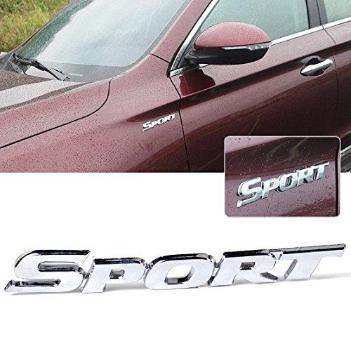 beler 3D Silber SPORT Emblem Metall Auto Aufkleber Motorrad Abzeichen Fahrzeug Dekoration (Sport-autoaufkleber)