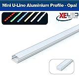 2Meter Mini u-line Aluminium LED Profil/Extrusion/Kanal mit Opal (milchig) für die Montage Flexible LED Streifen Beleuchtung –, extrudiertem, Aluminiumprofile, Aluminium Profil, Lichter