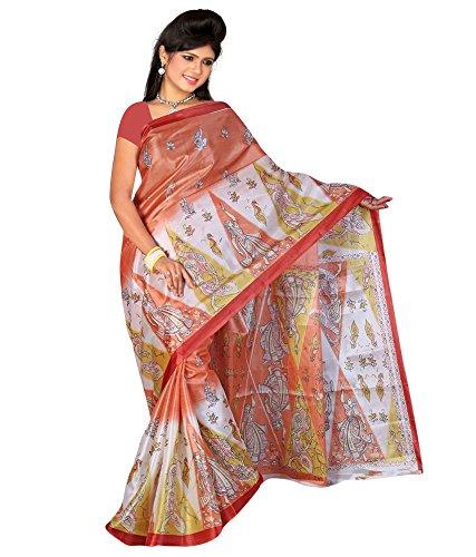 Saree (SRP Fashion Selection Women Art Silk Saree Without Blouse Piece,Multi)
