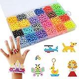 FOCCTS Kit de 3600pcs Abalorios Cuentas de Agua 24 Colores Manualidades para Niños Craft
