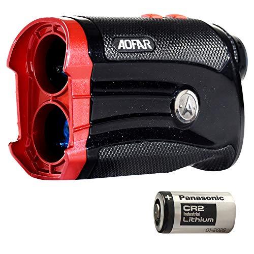 AOFAR G2 Golf Entfernungsmesser - zwei Dezimalstellen 6x wasserdichte Laser-Entfernungsmesser mit Steigung, Puls vibration, Tragetasche, kostenlose Akku, Geschenkverpackung