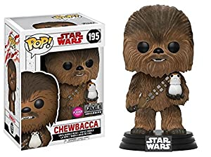 Figura Pop! Star Wars Episode VIII The Last Jedi Chewbacca with PORG Flocked Exclusive