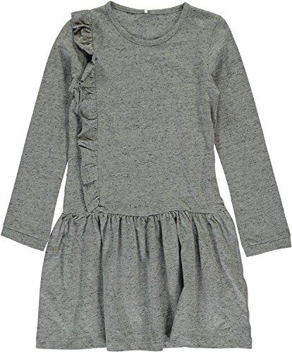 Name it Mädchen Jersey-Kleid Kathe langarm Kids, Größe:152, Farbe:grey melange