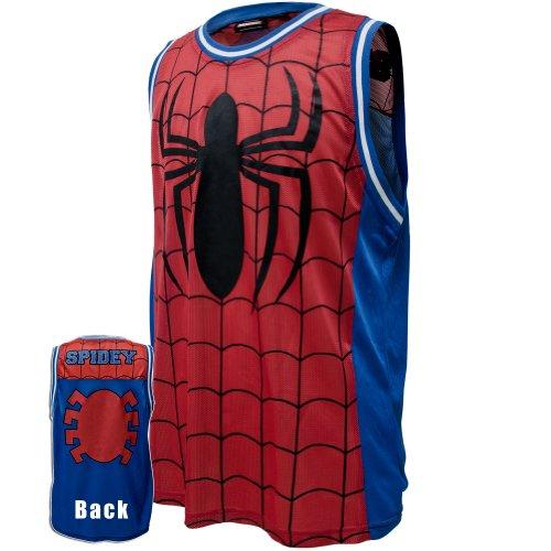 Spider-Man-Parks Herren Basketball Trikot Jersey (Kids Spider Hoodie)