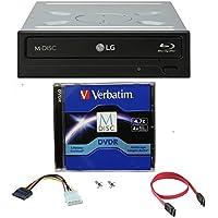LG 14X Blu-ray M-Disc CD DVD BDXL BD Quemadora Grabadora con 1pk Mdisc DVD libre + Tornillos de Montaje WH14NS40