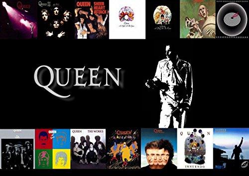Freddie Mercury 17Queen Große Rock Metall Album Cover Design Musik Band beste Foto Bild Einzigartige Print A3Poster (Multi-logo-print Über)