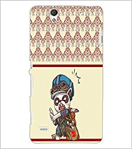 PrintDhaba Cartoon D-5806 Back Case Cover for SONY XPERIA C4 (Multi-Coloured)