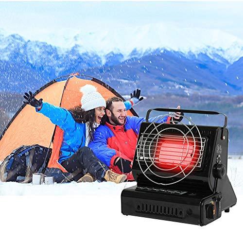 Mini Tragbare Schnellheizer Außenbereiche Heizungen Wärmegeräte Gasheizgerät Für Wohnmobile Wandern Tourismus, Picknicks(Schwarz)