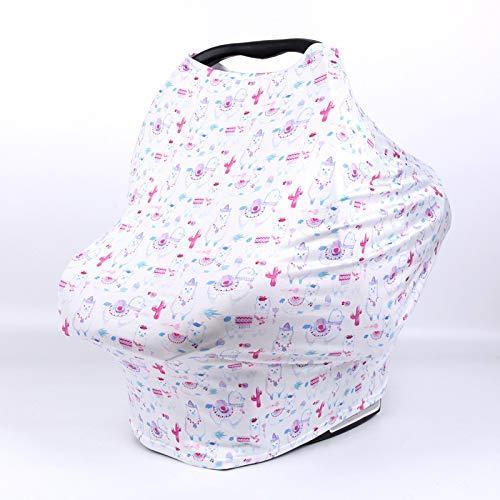 ZCLD Welliges Milchseiden-Fütterungstuch Pflegetuch Pflegetuch Pflegetuch Abdeckungen Tragesitz, Kinderwagen, Überdachung Einkaufswagen - Stilvoller, elastischer Mehrzweck-Infinity-Schal, Lamm