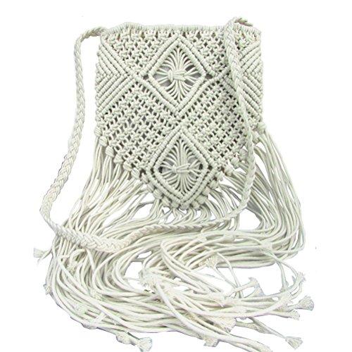 Donalworld - Borsa a tracolla donna Bianco (bianco)