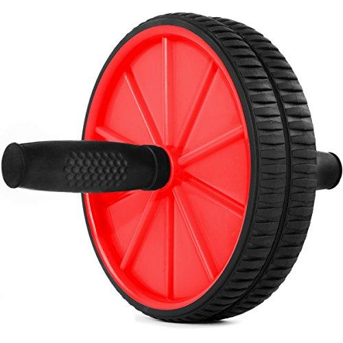 Fitfiu - Ab Wheel R Rueda de abdominales, color rojo