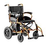 MLNRDDLY Sedia a rotelle elettrica intelligente, sedia a rotelle pieghevole di peso leggero sedia a rotelle con schienale reclinabile e doppio motore potente per disabili e anziani mobilità in lega di