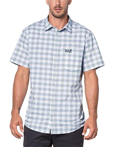 Jack Wolfskin Herren Hot Springs Hemd, Ocean Wave Checks, XXXL