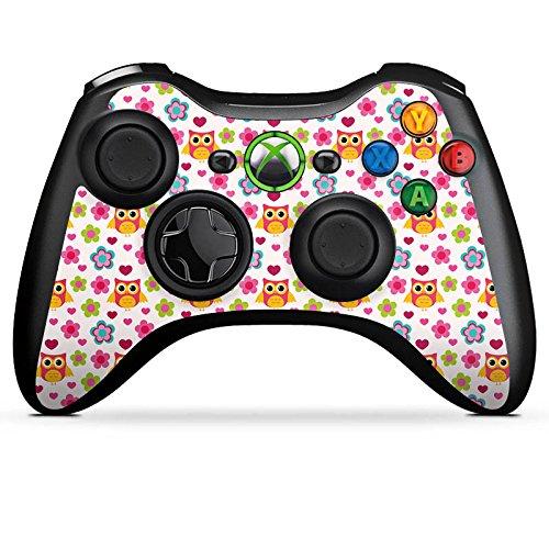 Microsoft Xbox 360 Controller Folie Skin Sticker aus Vinyl-Folie Aufkleber Eulen Colourful Bunt
