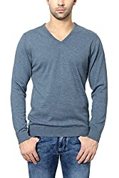 Peter England Regular Fit Sweater _ EKC51507177_XL_ Blue