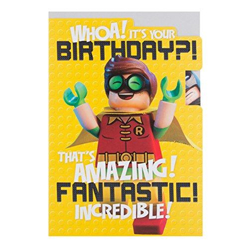 Hallmark Lego Batman Biglietto di compleanno fantastico, medio