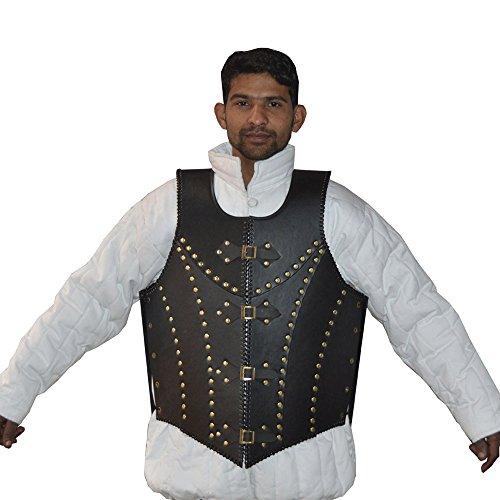 lalter schwarz Leder Dragon Warrior Armor Jacke Kostüm Larp (Kostüm Dramen Besten)