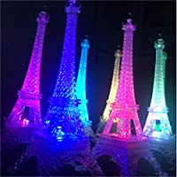 Bluelover25,5 cm Led colori cambiando Torre Eiffel notte luce luci