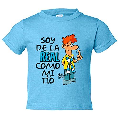 Camiseta niño soy de la Real Sociedad como mi tío Jorge Crespo Cano - Celeste, 12-14 años