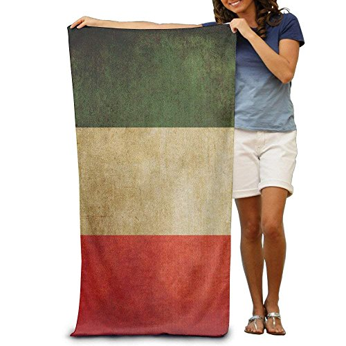 Sula-Lit Vintage Italienische Flagge Retro Italien Flagge Badetücher Beach Pool Handtücher Erwachsene Weich saugfähig -