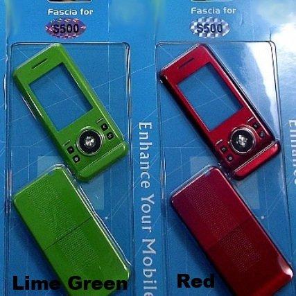 Neue Ersatz Grün Fascia Abdeckung vorne und hinten Gehäuse für SONY ERICSSON S500i Handy (Green) -