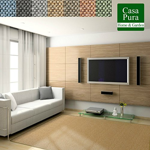 Casa pura Alfombras de Sisal - Alfombras Fibras Tejido Plano | SABANG | Certificado GUT | Polipropileno...