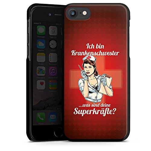 Apple iPhone X Silikon Hülle Case Schutzhülle Krankenschwester Spruch Nurse Hard Case schwarz