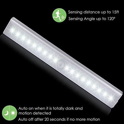lampe placard kingland 14 18 led lampe rechargeable detacteur de mouvement 4 modes d. Black Bedroom Furniture Sets. Home Design Ideas