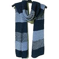 Los hombres de otoño - Invierno bufanda de punto bufanda de espesamiento, color de punto, bufanda de hombre Otoño - invierno,Azul Verde