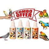Pet Care International (PCI) Ultra Feather, Immuboost, VitaBoost & Cal Care for Healthy Feathers and Provide Essential Vitamins, Minerals and Calcium for Healthy Bird Healthcare (Combo) (30ml)