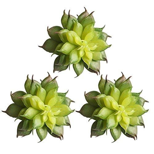Kicode Terre Lotus plantes rares Plantes artificielles Artificiel Couronne de bricolage unpotted 3pcs 2,7 * 2,1 pouces pour Jardin Succulent Herbe Désert Paysage Jardin Décoration Mignon