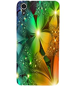 PrintDhaba Flower D-2340 Back Case Cover for HTC DESIRE 728 (Multi-Coloured)