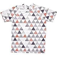 Camiseta Running Estampada Hombre, Manga Corta, Gimnasio #Triangles Talla L