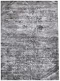 Bakero Teppiche Rio, Viskose/Baumwolle, Grau, 150 x 80 x 1.3 cm