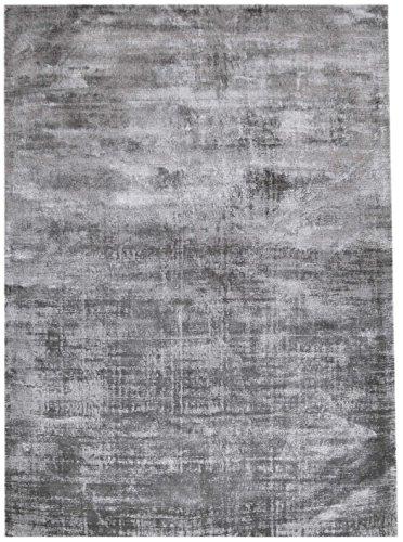 Bakero Teppiche Rio, Viskose/Baumwolle, Grau, 150 x 80 x 1.3 cm - Viskose-teppich