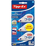 Tipp-Ex Mini Pocket Mouse Ruban Correcteur Standard Blister de 3