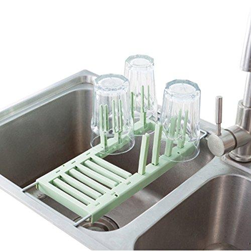 Scolapiatti nel lavabo multifunzione regolabile 2modalità di utilizzo green