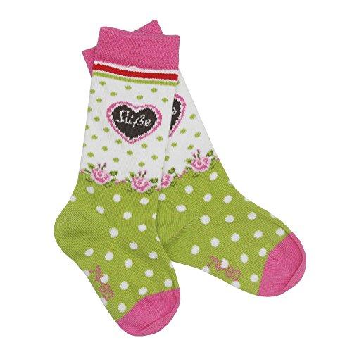 BONDI Mädchen Baby Kniestrümpfe ´Alpenglück´ in rose-grün Artikel-Nr. 85619 Größe 74/80