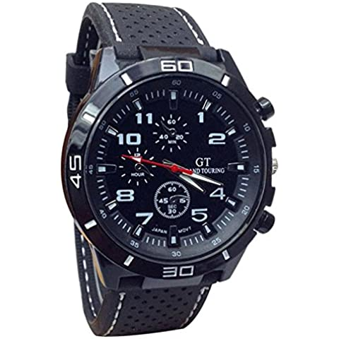 Amlaiworld Silicón de la manera del deporte militar cuarzo reloj de pulsera