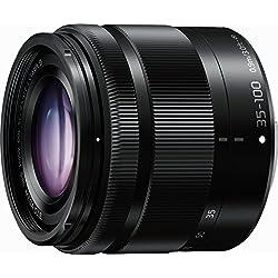Panasonic Lumix Objectif Téléphoto pour capteur micro 4/3 35-100mm F4.0-5.6 H-FS35100E-K (Zoom Polyvalent, Stabilisé, Compact, equiv. 35mm : 70-200mm) Noir - Version Française
