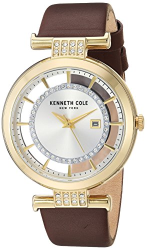 Kenneth Cole New York Women's Analog-Quartz Watch with Leather Strap KC15005006