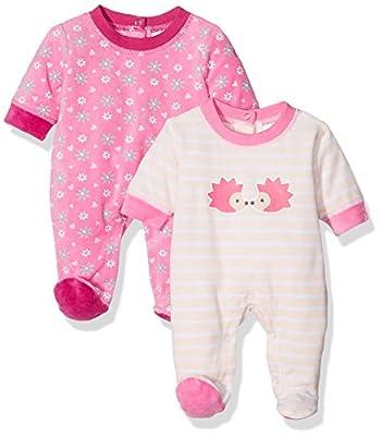 Twins Baby - Schlafstrampler Igel, Pijama para Bebés, (lot de 2 )