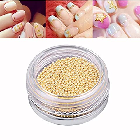 Hunpta 5g/boîte Or et Argent à ongles ongles Paillettes Perles NE SE décolorent pas métallique